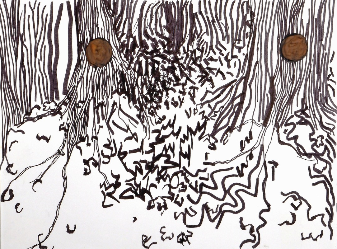 Landscapes- 2008-2009 watercolor and marker on paper