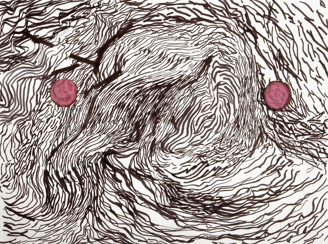 Landscapes (series) 2008-2009 marker and watercolor on paper