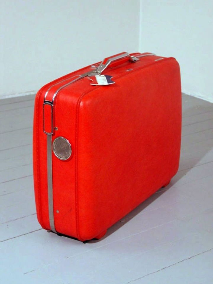 sam blanchard Breathing Suitcase Suitcase, Wood, Copper, Plastic, Electronics
