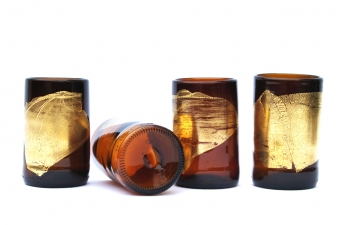 Nanda Soderberg Recycled beer and wine bottle products Recycled glass