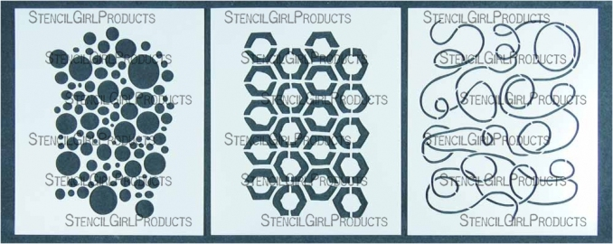 StencilGirl Products Stencil Sets 6x5 Artist Designer - Patricia Baldwin Seggebruch