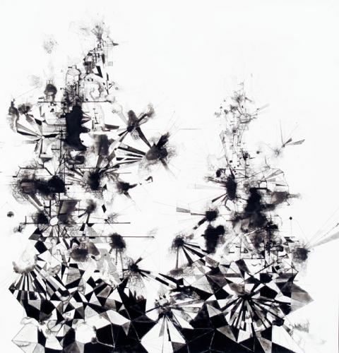 Steven Bindernagel Works on paper ink on yupo paper