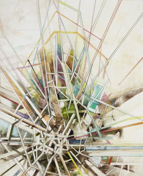 Steven Bindernagel Works on paper watercolor and colored pencil on yupo paper