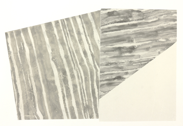 Susan Belau Strata etching on folded paper