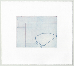 Susan Belau Paper Geography etching and chine collé