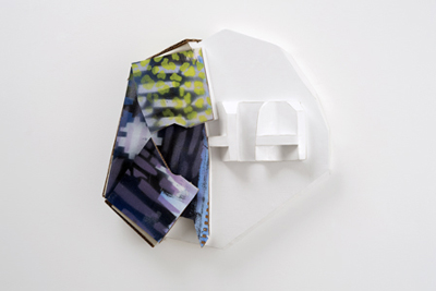 Tamara Zahaykevich Bonz Styrofoam, cardboard, paper, paint