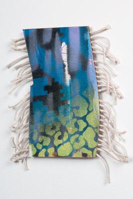 Tamara Zahaykevich Heart cardboard, paper, acrylic paint, string