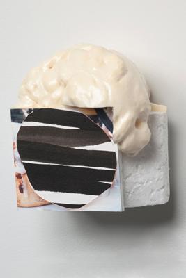 Tamara Zahaykevich Heart polystyrene, paper, ink, canned foam