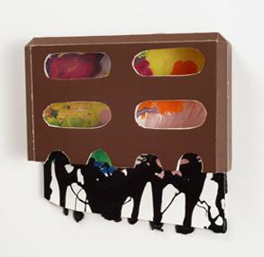 Tamara Zahaykevich Heart foam board, acrylic paint
