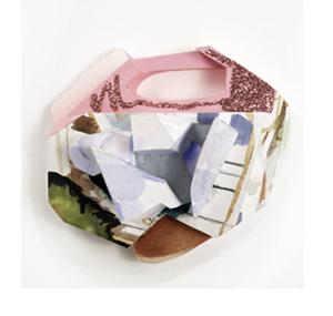 Tamara Zahaykevich Qi Polystyrene, paper, acrylic paint, watercolor, glitter