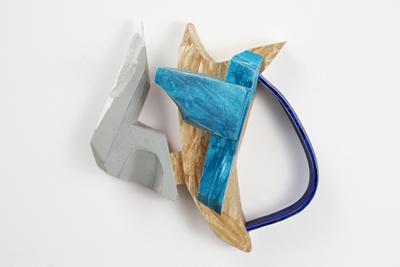 Tamara Zahaykevich Bonz Polystyrene, paper, acrylic paint, watercolor, glitter