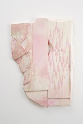 Tamara Zahaykevich Heart Styrofoam, paper, paint