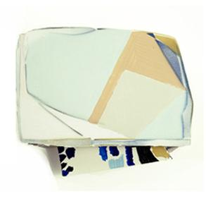 Tamara Zahaykevich Heart Polystyrene, foam board, paint, decoupage