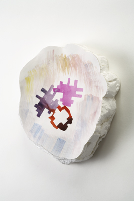 Tamara Zahaykevich Heart Polystyrene, foam board, watercolor paper, watercolor