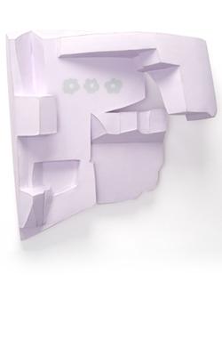 Tamara Zahaykevich Heart Polystyrene, paper, acrylic paint