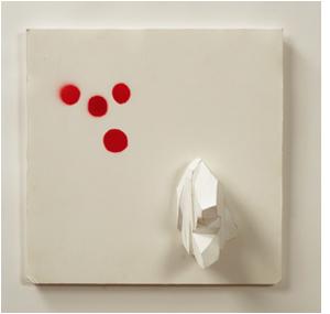 Tamara Zahaykevich Brite Ideas Foam core, paper, spray paint
