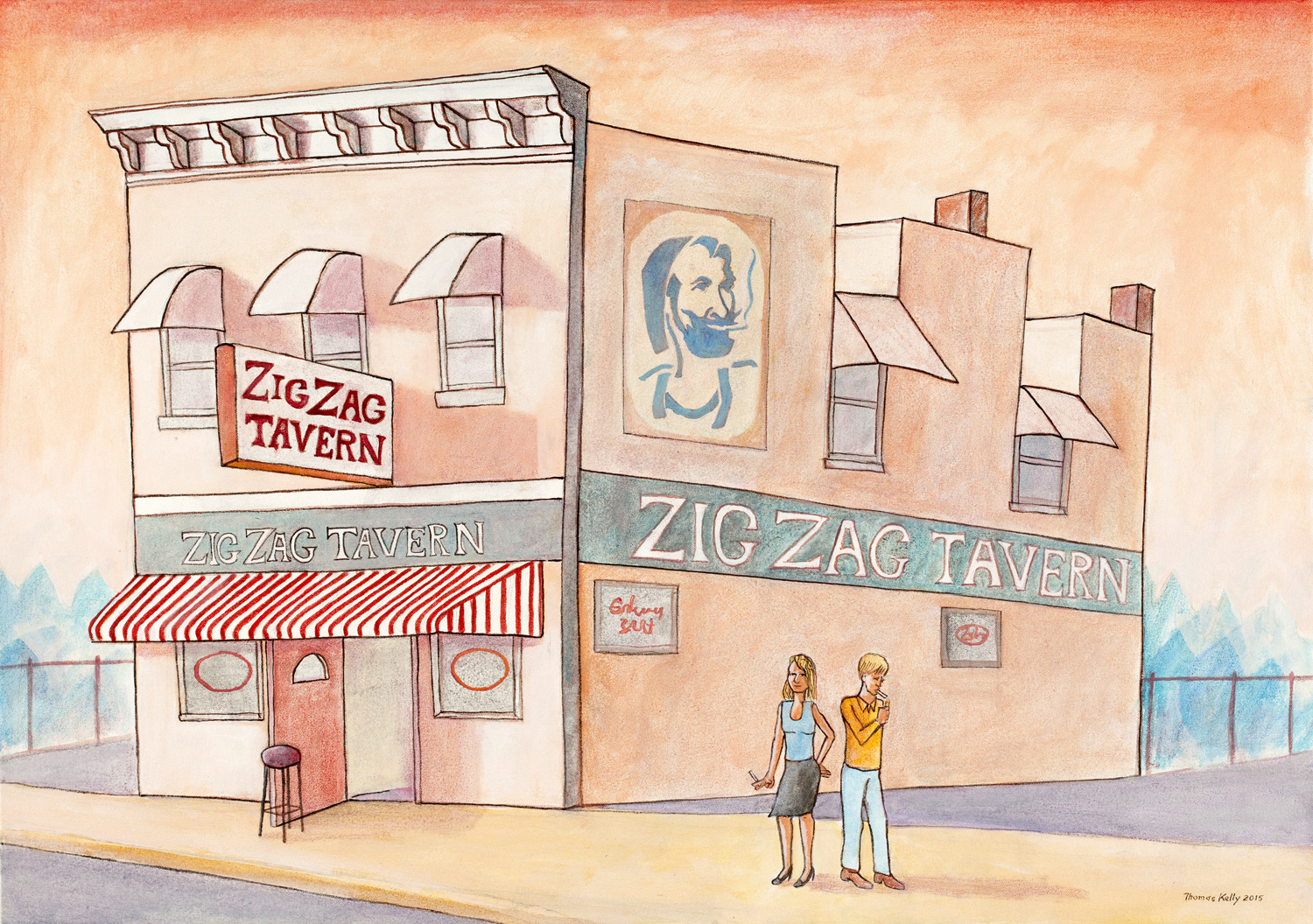 Collected Paintings Zig Zag Tavern