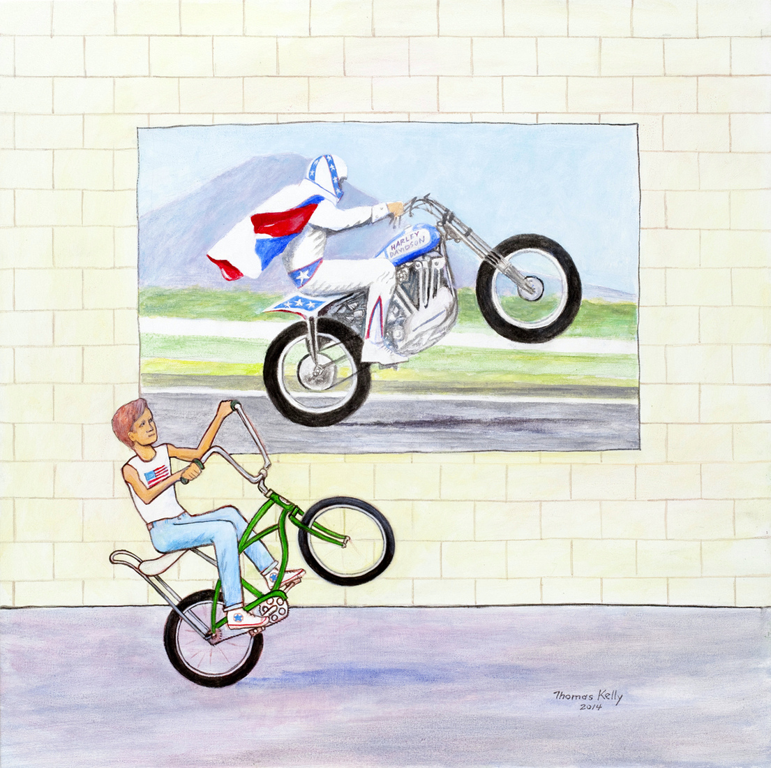 Collected Paintings Evel Knievel