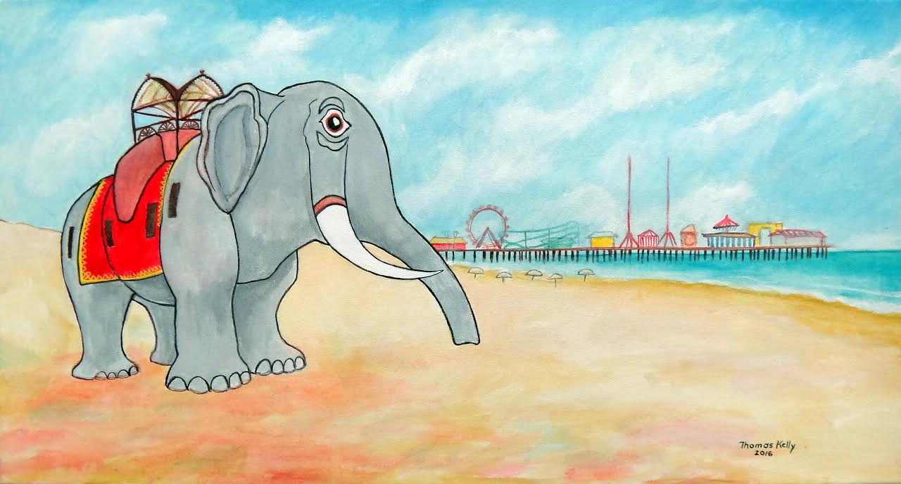 Available Paintings Lucy the Elephant and the Steel Pier