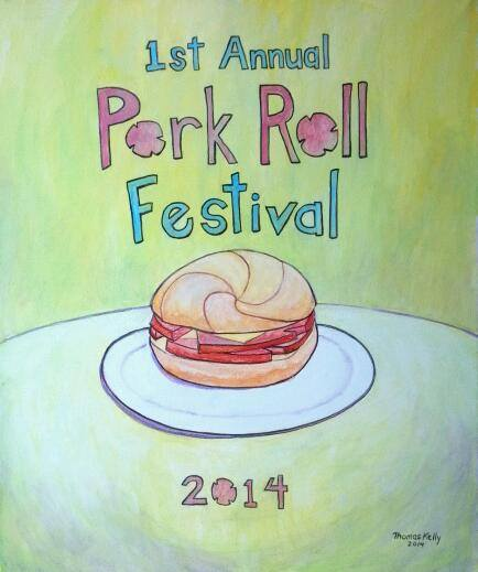 Commissioned Paintings Porkroll Festival Poster