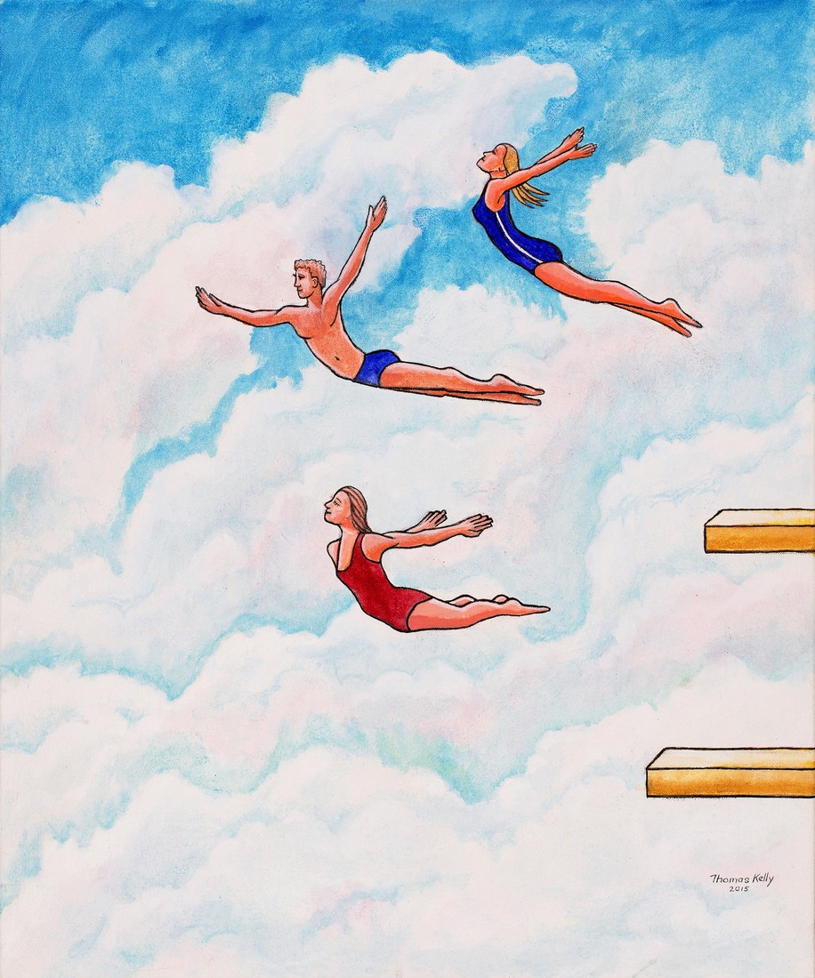 Commissioned Paintings Diving