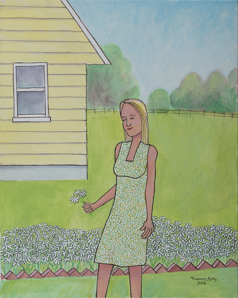 Available Paintings The Flowered Dress