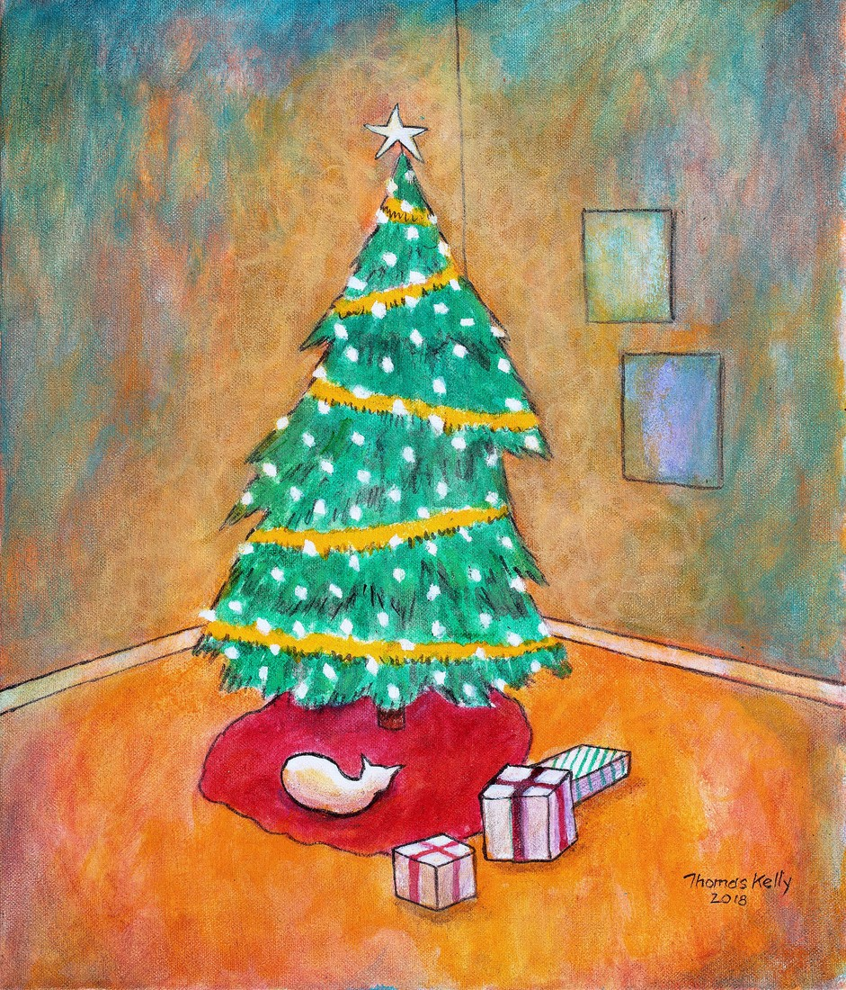 Available Paintings Natural Christmas Tree