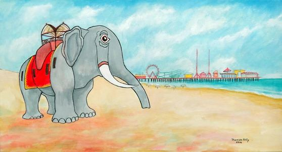 Lucy the Elephant and the Steel Pier