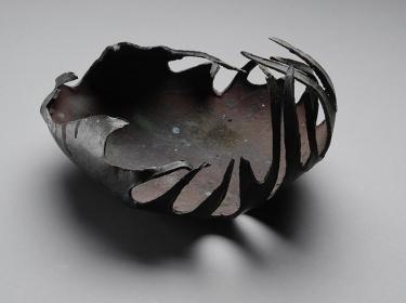 Tomoko Amaki Abe Ceramic Works 1 paper clay, raku glazes
