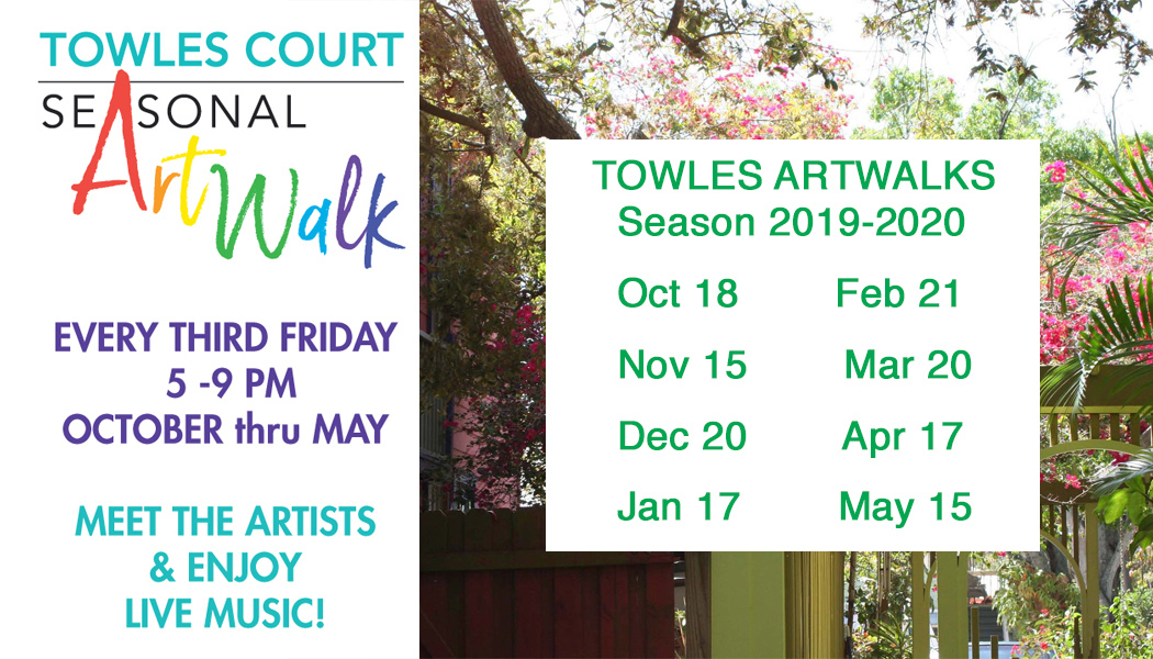 Towles Court Artist Colony.1938 Adams Lane. Sarasota FL 34236  Art Walks