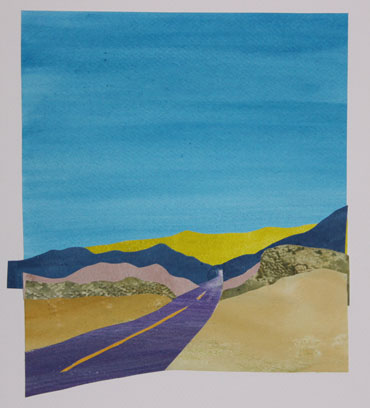 Anne Coffey California Road Trip Series painted paper collage