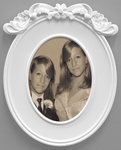 Arlene Rush Twins Cameo Digital print with frame