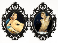 Arlene Rush Twins Cameo Digital prints with frames