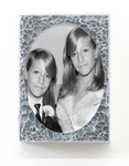 Arlene Rush Twins Just a Memory Digital print face-mounted to plexi and shattered tempered glass