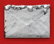 Arlene Rush Evidence Of Being Linen paper, museum board, resin, silver leaf, wax, acrylic and wood