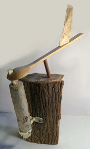 Bruce Rosensweet FIREWOOD Wood, copper pipe, found objects