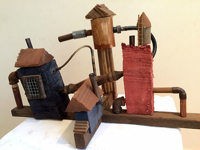 Bruce Rosensweet ARCHITECTURE Wood, found objects