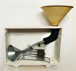 Bruce Rosensweet NEW WORK Found objects, gesso