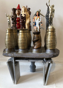 Bruce Rosensweet NEW WORK Found objects, plaster casts, acrylic paint, shellac
