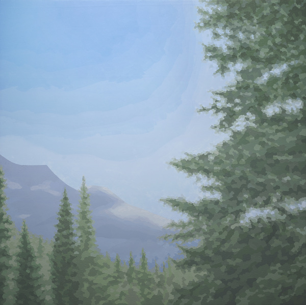 ELAINE COOMBS Mountains Acrylic on canvas over panel