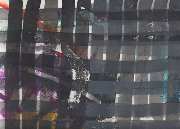 Jodi Hays Winter Papers (2014-present) gouache and spray paint on paper