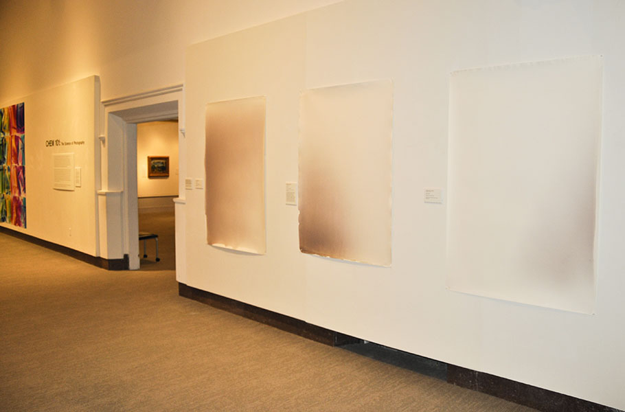 AgX Series Installation View, CHEM 101 Exhibit, University of Connecticut, Storrs.
