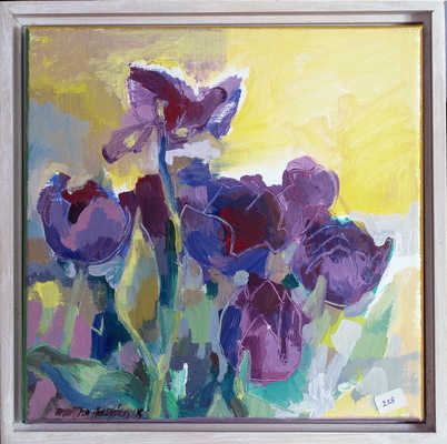 Mothers Day Flowers acrylic on linen