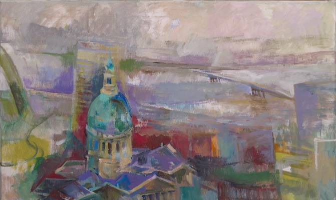 Martha Hayden St. Louis acrylic on linen