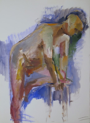 Martha Hayden New Figure Studies acrylic on paper, unframed