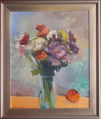 Mothers Day Flowers oil on linen