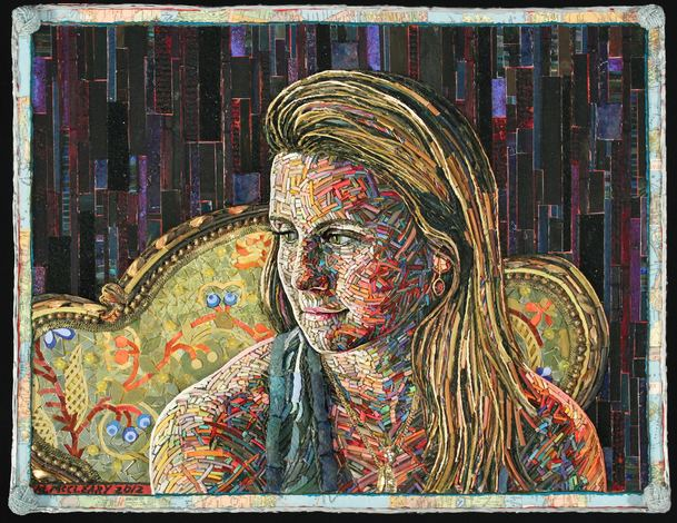 Mary McCleary Portraits Mixed media collage on paper