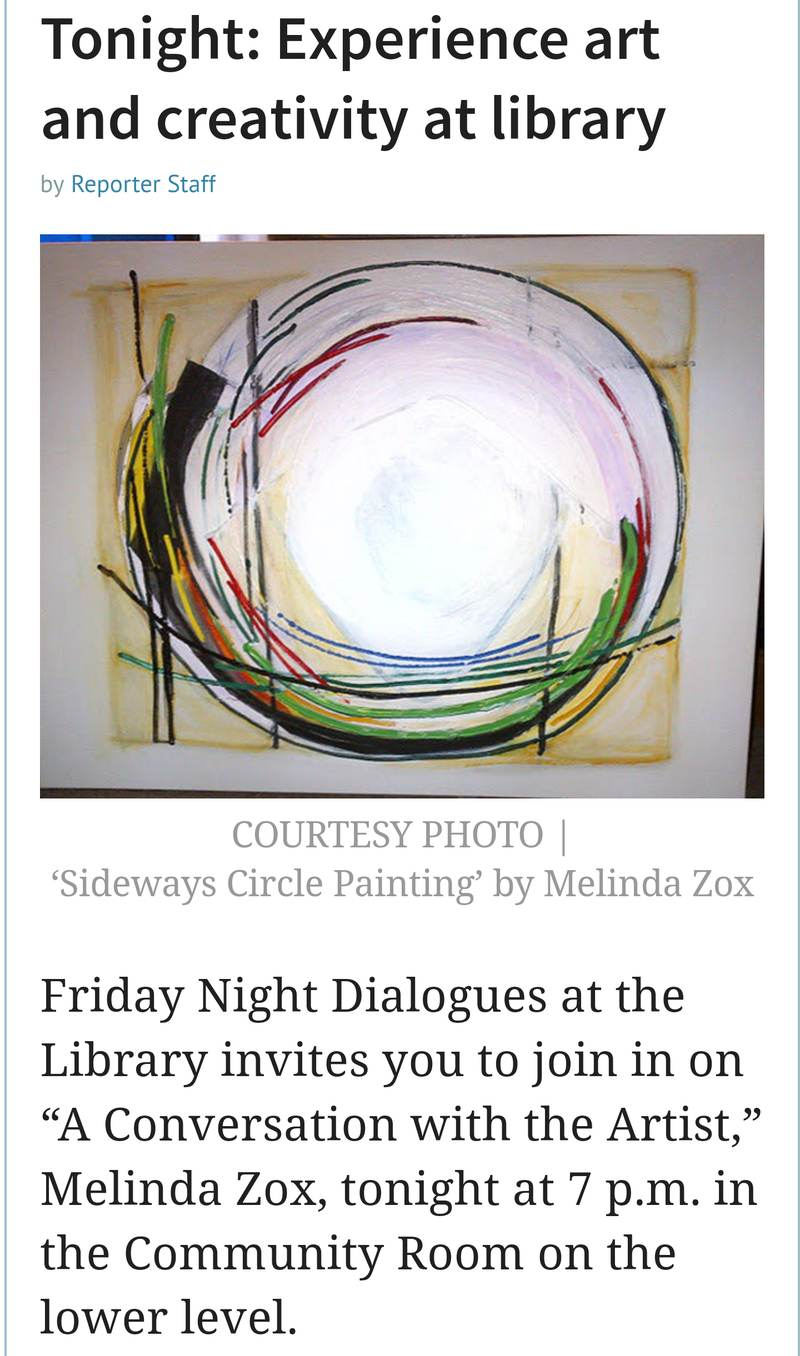 Melinda Zox  Exibitions Solo Show