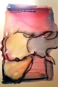 Melinda Zox  Works on paper 2012-2019 Watercolor, Ink,  on Cold Press Paper
