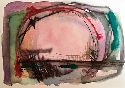 Melinda Zox  Works on paper 2012-2019 Watercolor, Ink, Gouache on Cold Press Paper